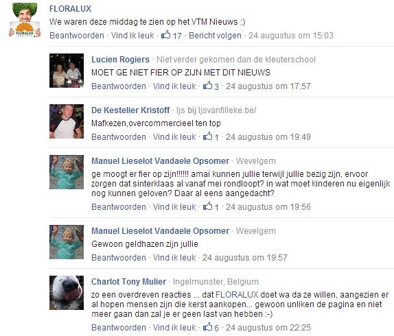 Floralux op Facebook.