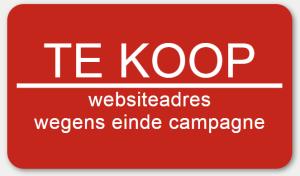 te koop websiteadres wegens einde campagne