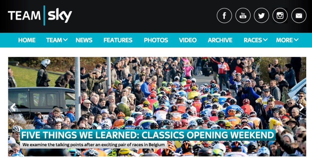 Team Sky website