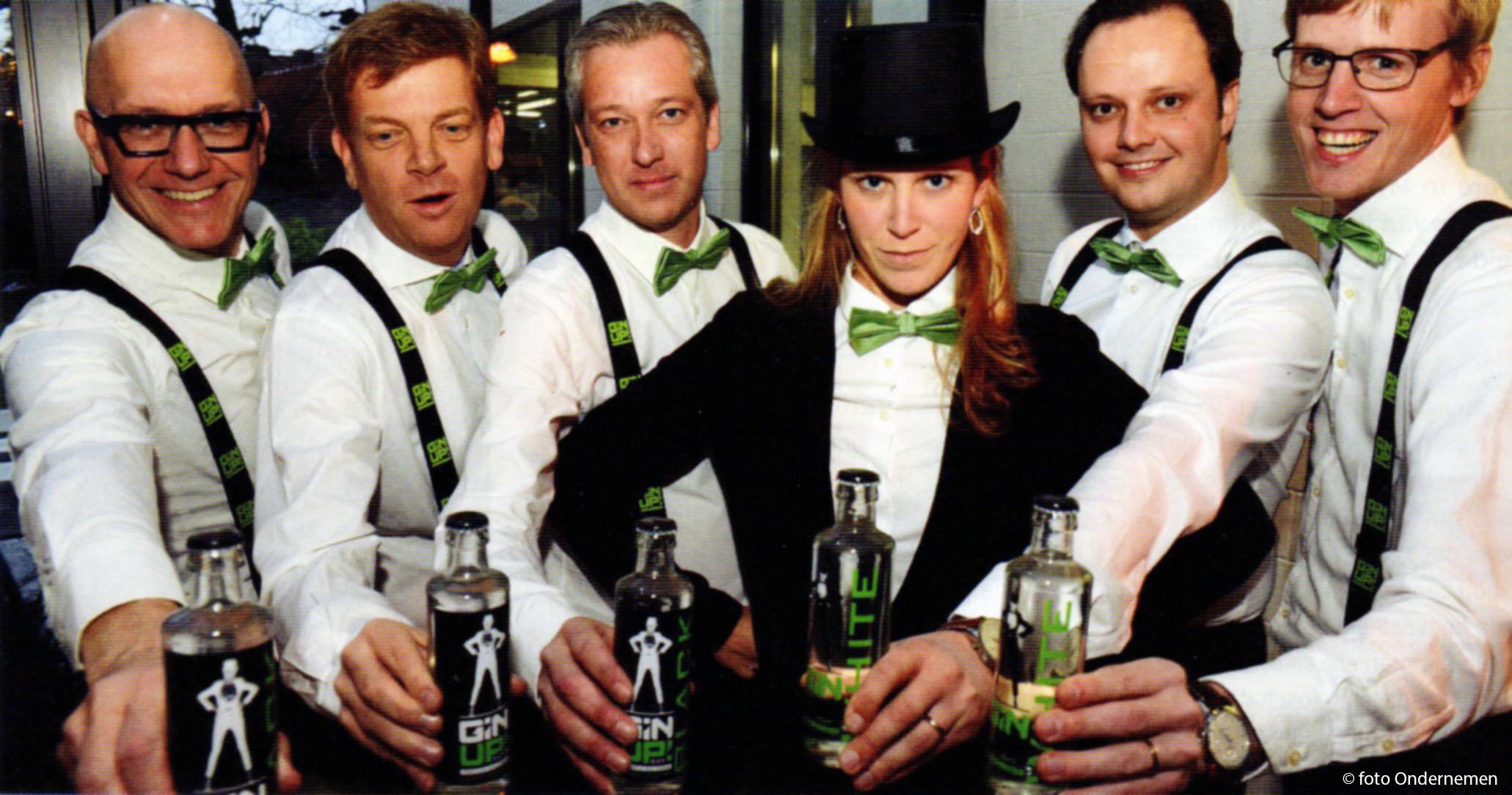 Gin Up! Foto van de zaakvoerders bij lancering van de volledig Belgische premium premixed gin tonic