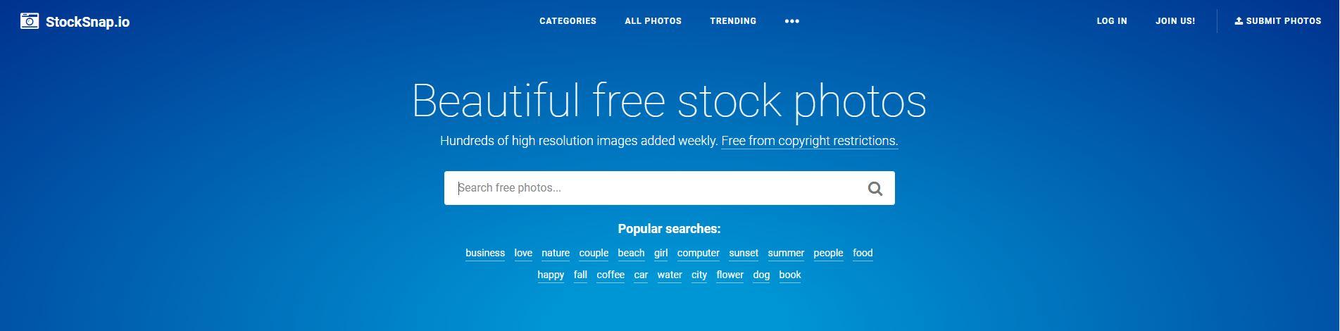 Stocksnap gratis foto's
